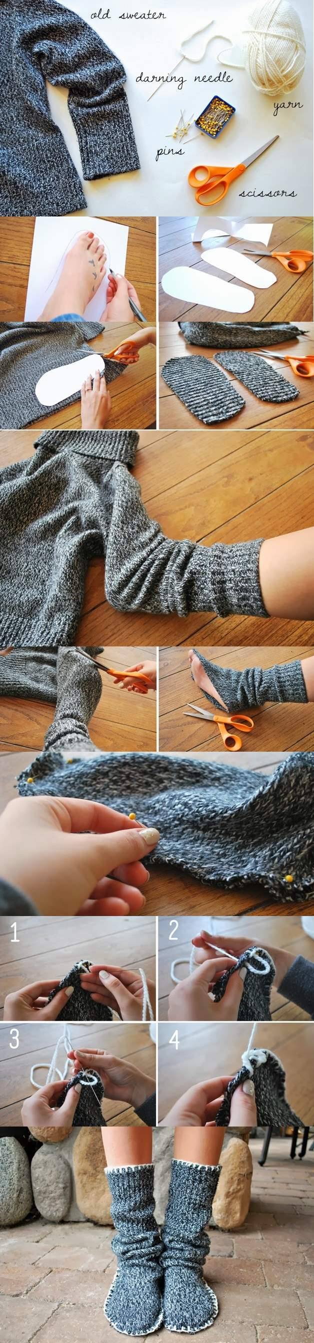 How-to-Make-Sweater-Slipper-Boots-2