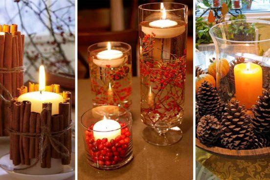 19 nápadů na vánoční svíčky
