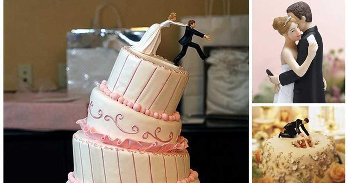 оригинальные свадебные торты фотографии