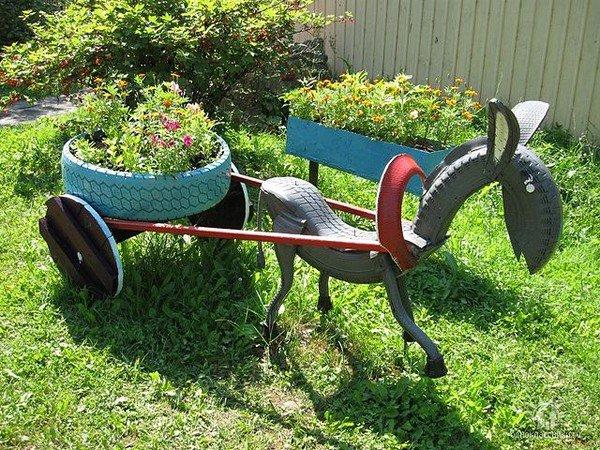 donkey-tire-art