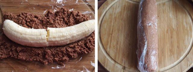 postup 3 Nepečený banánovo tvarohový dezert