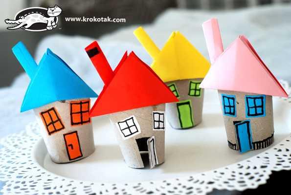 4_Domečky z rolí od toaletního papíru - nápady pro tvořivé děti