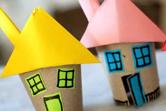 Domečky z ruliček od toaletního papíru – nápady pro tvořivé děti