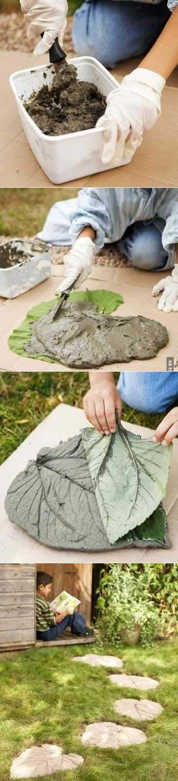 how-to-make-leaf-stepping-stones
