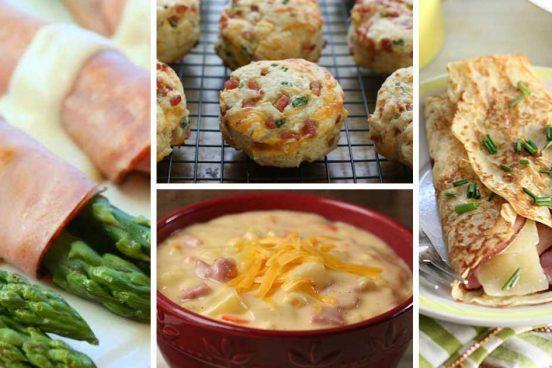 Recept 6 receptů na výborná jídla se šunkou a sýrem