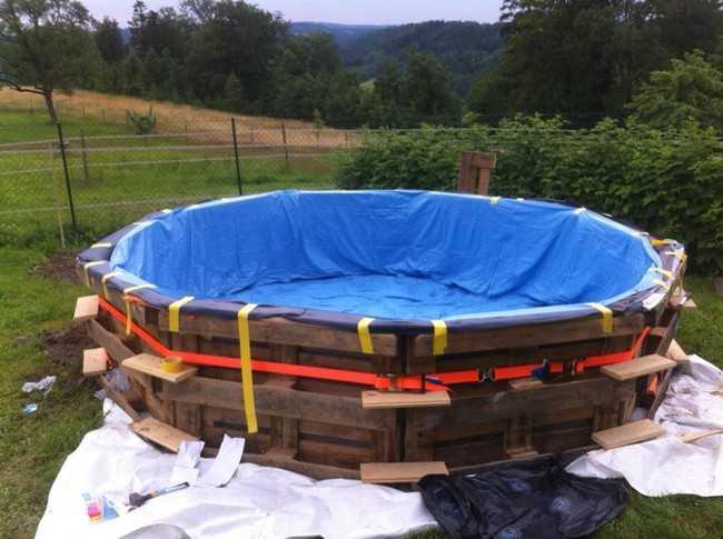 Bazén z palet za pár korun - fotonávod_4