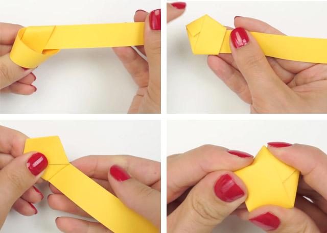 postup Hvězdičky z papíru pro štěstí + video návod