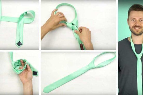 Jak uvázat kravatu za 10 sekund – Video návod