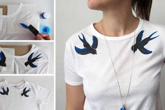 Návod, jak si vyrobit originální malované tričko