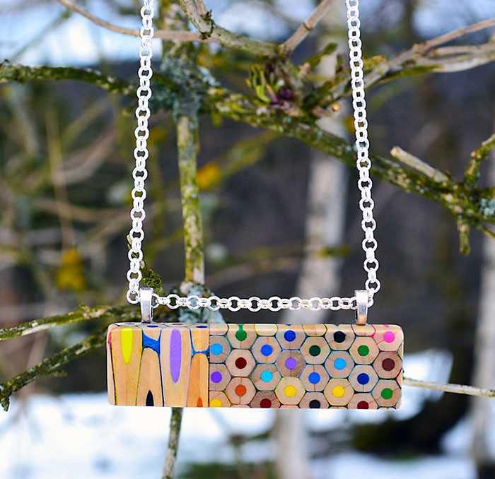Inspirace - krásné šperky z pastelek od české umělkyně (10)