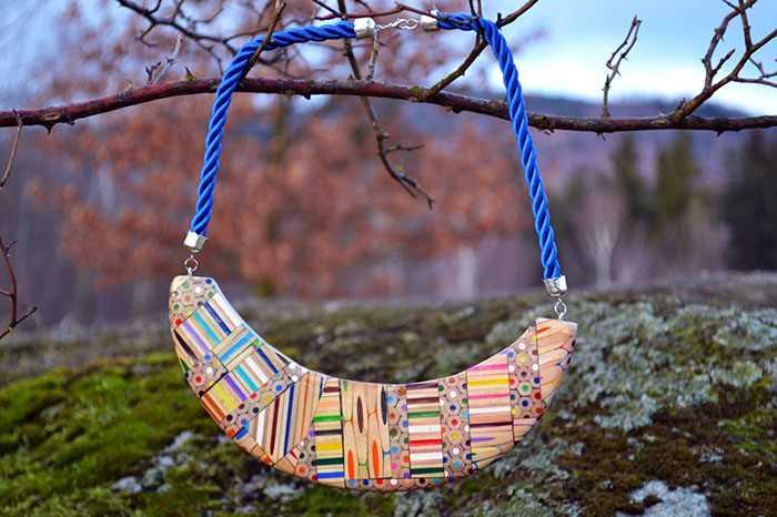 Inspirace - krásné šperky z pastelek od české umělkyně (11)