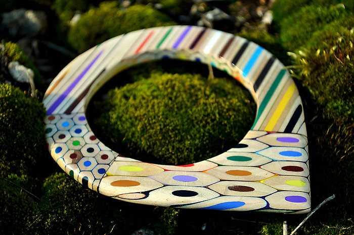Inspirace - krásné šperky z pastelek od české umělkyně (2)