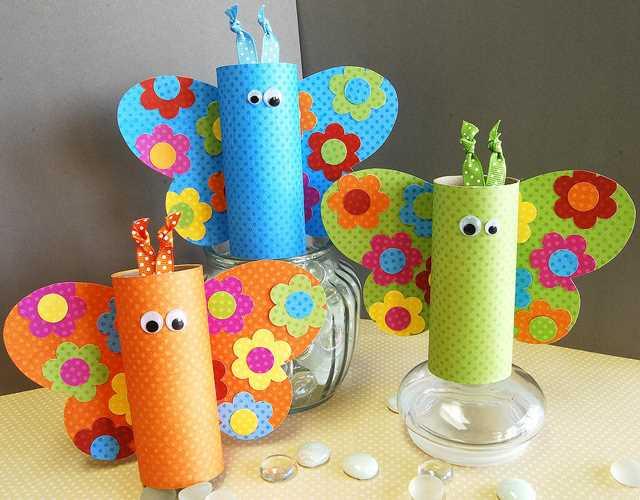 Tvoření s dětmi - nápady, co s ruličkami od toaletního papíru ...