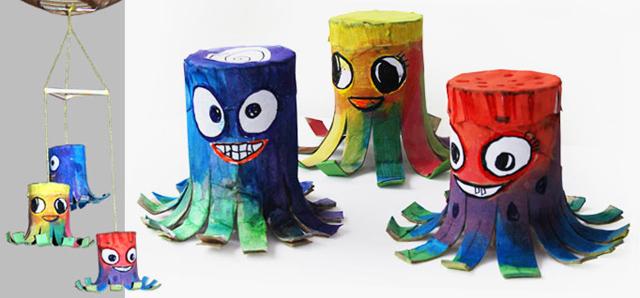Tvoření s dětmi - nápady, co s ruličkami od toaletního papíru (8)