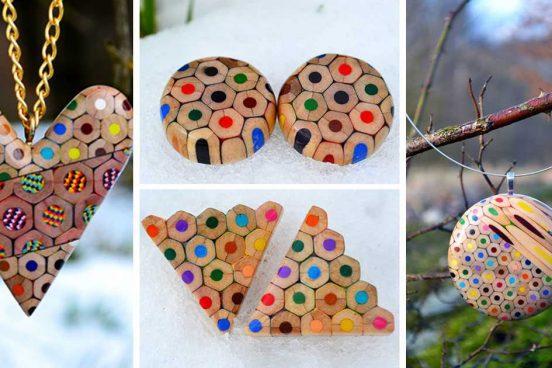 Inspirace – krásné šperky z pastelek od české umělkyně