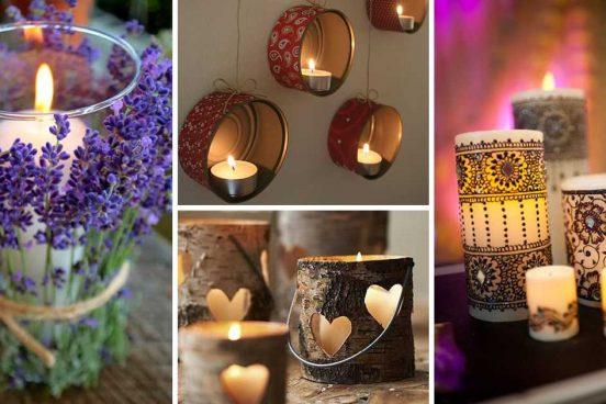 Inspirace na svíčky a svícny, které si můžete sami vyrobit