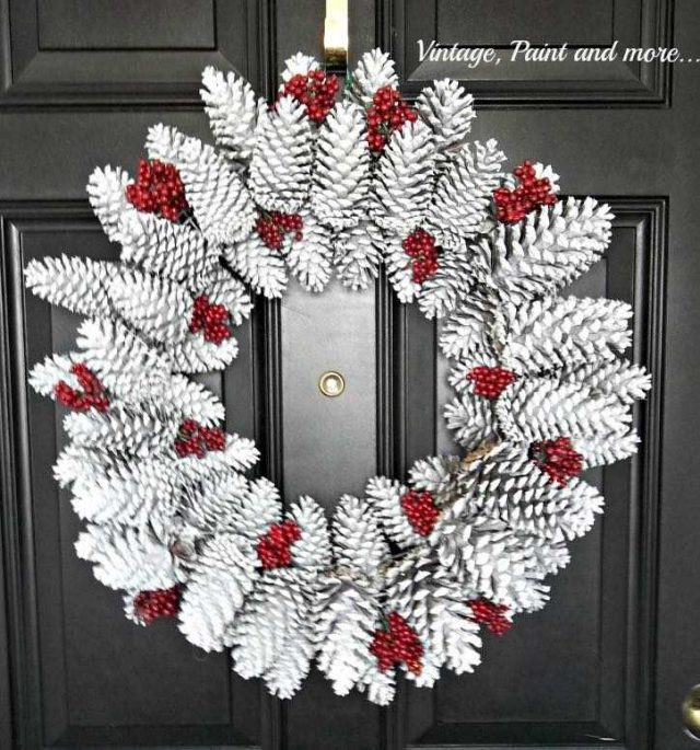 10 nápadů na vánoční věnce ze šišek (8)