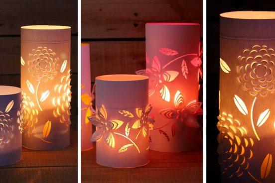 Návod na krásný svícen z papíru