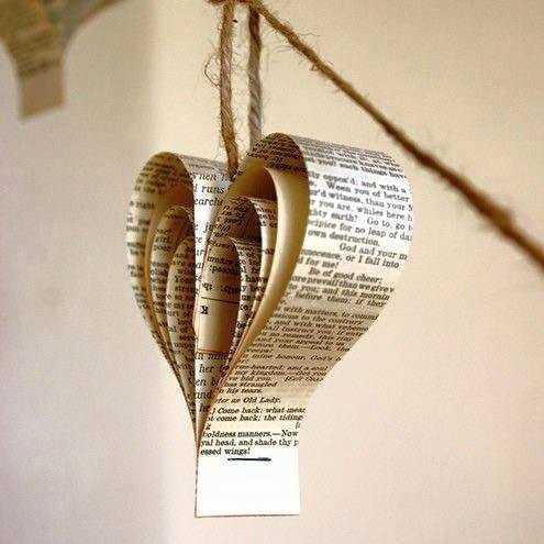 překrásné inspirace na dekorace z novin (23)