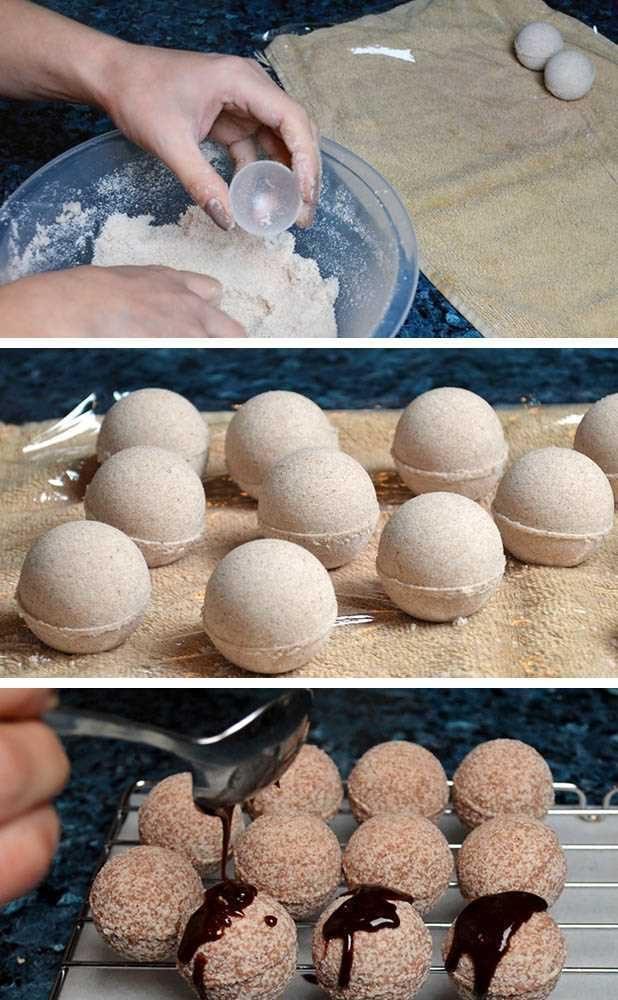 postup Hydratační kakaové bomby do koupele - návod na výrobu