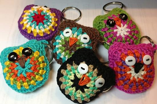 Owl-Key-Rings-Free-Crochet-Patterns-550x364