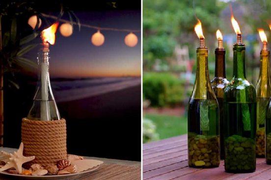 Originální svícny ze starých lahví od vína + video