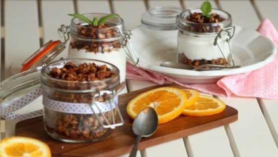 Recept na pomerančovou granolu