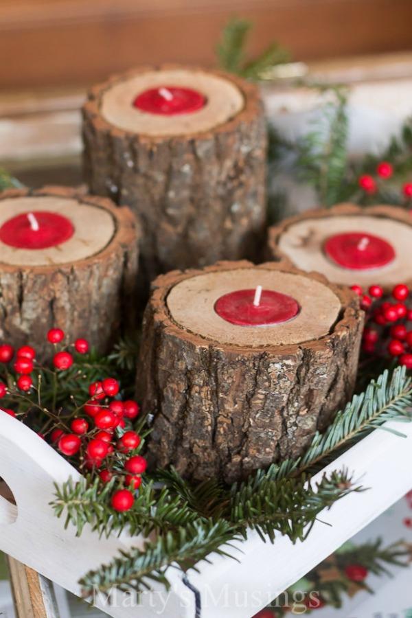 rustic-wood-tea-light-candle-holder-post
